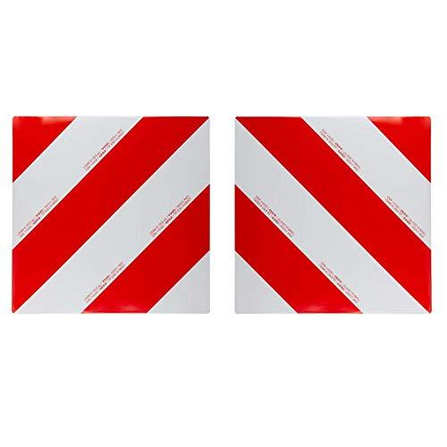 Warntafel-Set | links- & rechtsabweisend | einseitig | 2 Stück | für Trecker, Traktor, Auto, Wohnwagen, Wohnmobil | Warnschild | reflektierend | rot/weiß