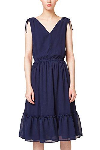 edc by ESPRIT Damen 048CC1E009 Kleid, Blau (Navy 400), 36