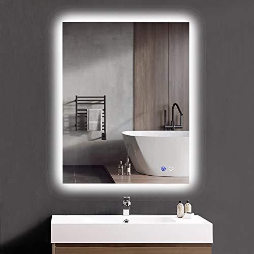 Keonjinn 36 x 28 Inch Bathroom LED Mirror Backlit Wall Mounted Makeup -