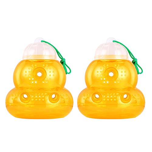 KEEPTOP 2 Pack Wasp Trap Hornets, Yellow Jackets Wasp Repellent, Hornet...