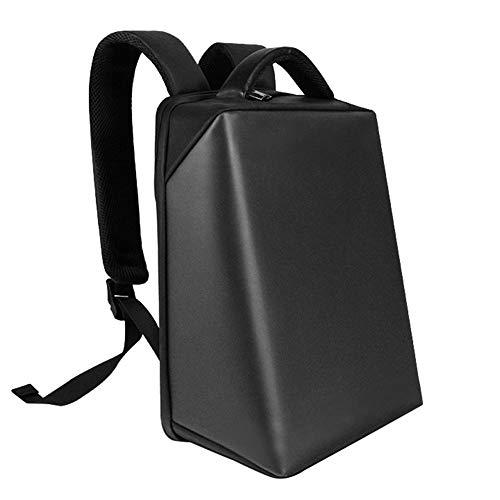 WOCTP Smart LED Dynamic Rucksack USB Laptop Tasche Interaktives Licht Benutzerdefinierte Animierte DIY Screen Rucksack Black-One Size