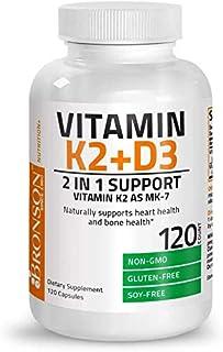 Vitamin K2 (MK7) with D3 Supplement Bone and Heart Health Non-GMO Formula 5000 IU Vitamin D3 & 90 mcg Vitamin K2 MK-7 Easy...