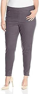 LEE Women's Plus Size Modern Series Midrise Fit Annika Tapered Leg Pant, Iron, 24W/Medium