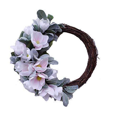 ZOBOLA Christmas Wreath Artificial Imitation Magnolia Garland Fall Garland Floral Ornament Ornaments For Christmas Outdoor Windows Party Wall Home Decor Thanksgiving Gift Photography Props (50 Cm