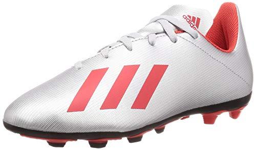 adidas X 19.4 FxG J, Zapatillas de Fútbol para Bebés, Plateado (Silver Met./Hi/Res Red S18/Ftwr White Silver Met./Hi/Res Red S18/Ftwr White), 31.5 EU