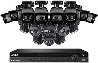 Lorex 16 Channel N881A63B 4K Security System 4KHDIP1688N- 8 4K LNE8950A Audio Turret Cameras, 8 4K E861ABB Bullet Cameras