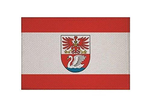 U24 Aufnäher Prenzlau Fahne Flagge Aufbügler Patch 9 x 6 cm
