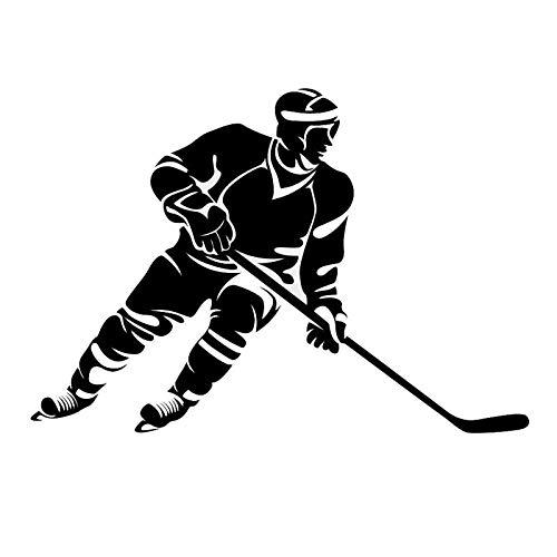 Auto Aufkleber Kreatives Auto Styling Eishockey Stylische Autoaufkleber Schwarz 19Cm * 12,3Cm, 2St