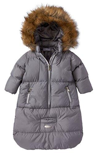 Cremson Girls Boys Newborn Infant Baby Puffer Carbag Pram Bag Snowsuit Bunting - Grey (Size 0/6 Months)