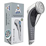 MR.SIGA 2-Speed Lint Remover, Fabric Shaver for Clothing, Couch, Blanket, Electric Rechargeable Lint Fuzz Remover with 2 Replaceable Upgraded 6-Leaf Blades