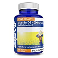 ★ HIGHEST STRENGTH VITAMIN D: Vitamin D3 4000 iu micro tablets, 360 Pack - Our high strength 4000 iu vitamin D supplement is a perfect 1-per-day tablet for anyone needing to boost their vitamin D levels ★ NATURAL VITAMIN D3: Get more Vitamin D with Z...