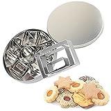 Moldes galletas Moldes reposteria 24 cortadores de formas geométricas en acero inoxidable-8 formas / En 3 tamaños cada uno/Cortador galletas/Juego de cortadores