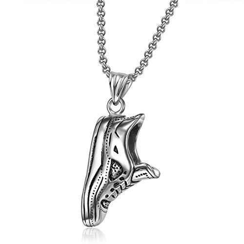 Alushisland Mode heiß neuen Schmuck europäischen und amerikanischen personalisierten kreativen Sport Anhänger Laufschuhe Stiefel Edelstahl Halskette für Männer und Frauen