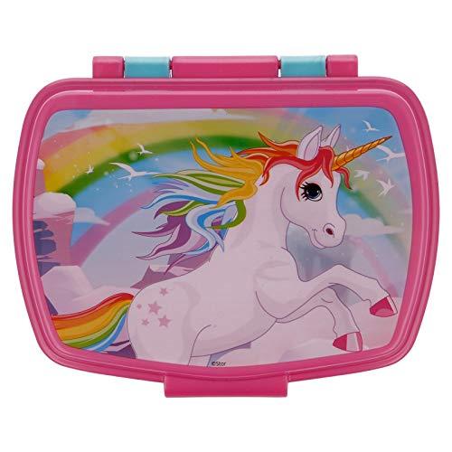 ILS I LOVE SHOPPING Contenitore Termico Porta merenda Scatola Sandwich Box per Bambini (Unicorno)
