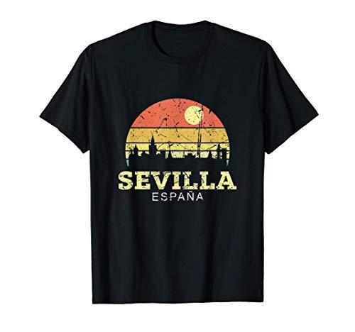 Sevilla Vintage Camisa De Horizonte Ciudad De Sevilla Camiseta