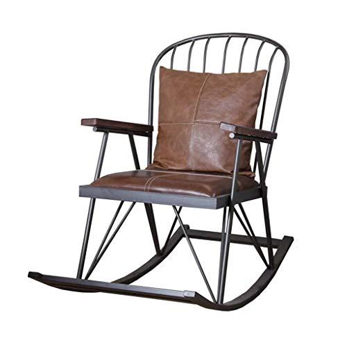 Yankuoo Vintage IJzeren schommelstoel, Home Comfortabele Lounge Stoel, LOFT Hotel Industriële Stijl Sofa schommelstoel, Outdoor Iron Garden Patio Meubels