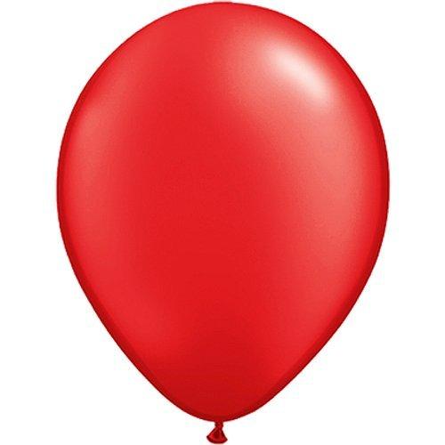 partydiscount24 50 x Luftballons Ø 30 cm | Freie Farbauswahl | 23 Ballon Farben (Rot)