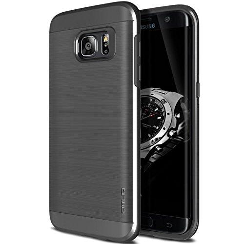 OBLIQ Slim Meta Custodia per Samsung Galaxy S7, Titanium Space Grigio