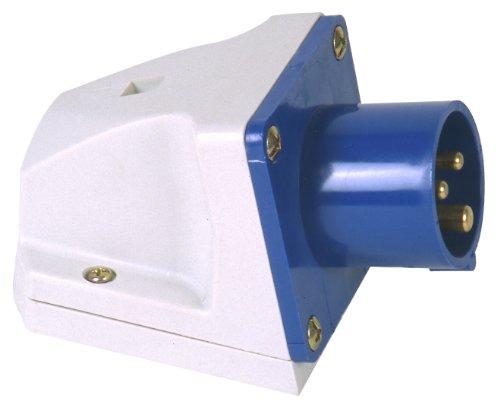 PCE 47405L Caravan-CEE-Wandgerätstecker 16A, 3 polig, Aufputzmontage, IP 44