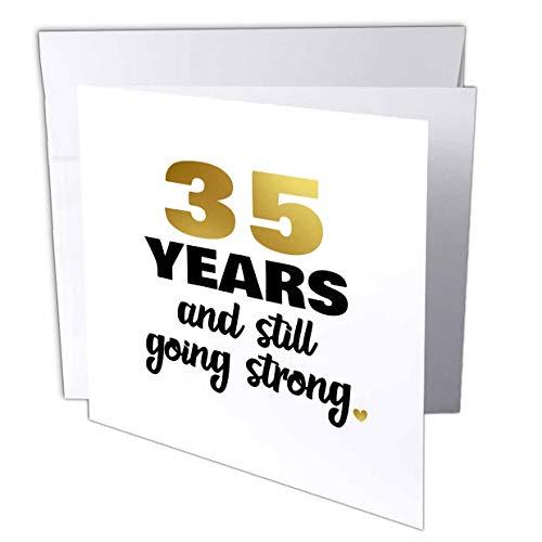 3drose Grußkarte 35Jahren Still Going Strong Dreißig Fünfte Glückwunschkarte zum 35. Hochzeitstag Geschenk, 15,2x 15,2cm (GC 274378_ 5)