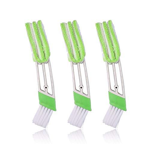 KnR Harmony Mini-Staubwedel für Autositz, 3 Stück, Klimaanlage Reiniger und Bürste, Doppelkopf-Staubsammler Reinigungswerkzeug für Tastatur-Jalousien, Autoarmaturenbrett