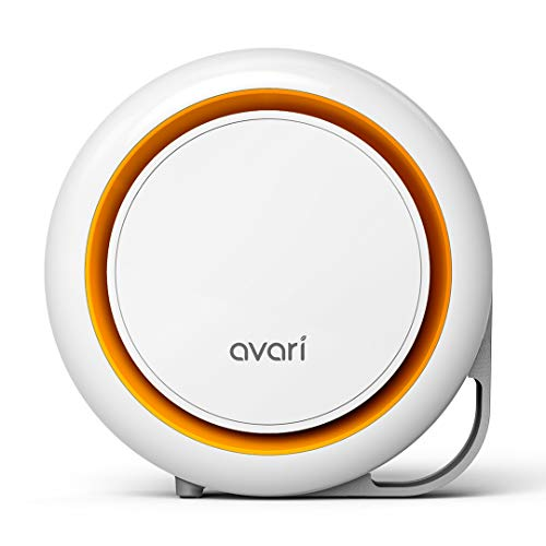 Avari 500-ESF Patented Electrostatic Air Purifier for Allergies, Smoke, Pollen, Pet Dander, Ultra-fine Dust, Dust Mites, and VOCs, Removes The widest Range of Particles Down to 0.1 microns-Orange