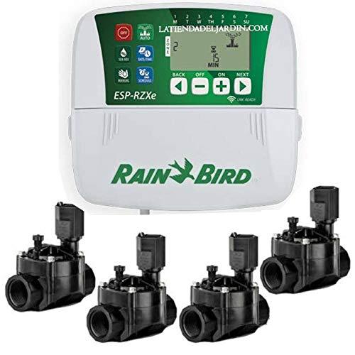 Suinga Kit programmateur de jardin Rain Bird RZX 4 zones intérieur électrique + 4 électrovannes 100 HV 24 V 1\