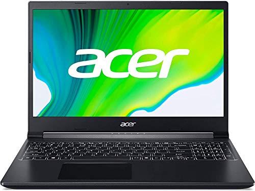 "Acer Aspire 7 A715-41G - Ordenador Portátil 15.6"" FullHD (AMD Ryzen 5 3550H, 8GB RAM, 512GB SSD, NVIDIA GTX1650-4GB, Sin Sistema Operativo), Color Negro - Teclado Qwerty Español"