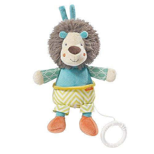 Fehn 066159 Spieluhr Löwe / Kuscheltier mit integriertem Spielwerk mit sanfter Melodie zum Aufhängen an Kinderwagen, Babyschale oder Bett, für Babys und...