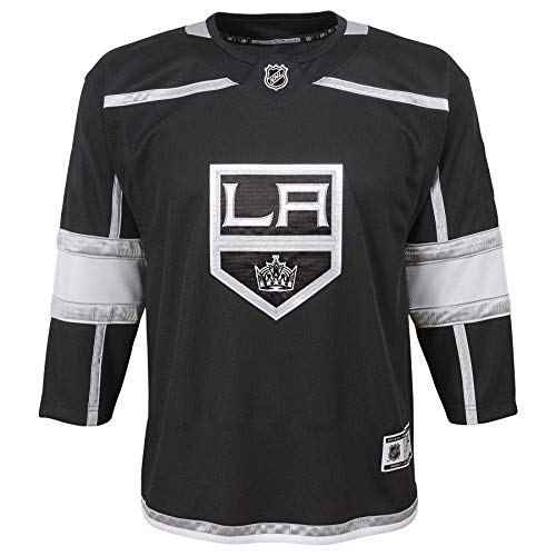 OuterStuff Los Angeles Kings NHL Youth Premier Blank Black Home Jersey (Youth S/M)