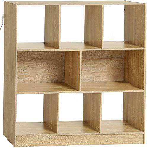 MSmask Bücherregal 8 Fächern Aufbewahrungsregal 100x30x98cm aus Holz Standregal aus Holz mit offenen Fächern Raumteiler Standregal Vitrine für Wohnzimmer Schlafzimmer Kinderzimmer Büro