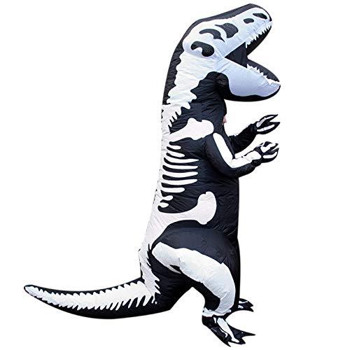 Morph Adults Skeleton Dinosaur T-Rex Inflatable Costume - Slight Colour Run Fault