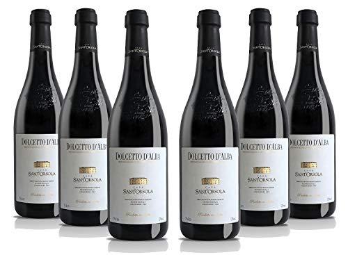 Sant'Orsola Dolcetto d'Alba DOC Vino Tinto Italiano - 6 Botellas X 750ml 4500 ml