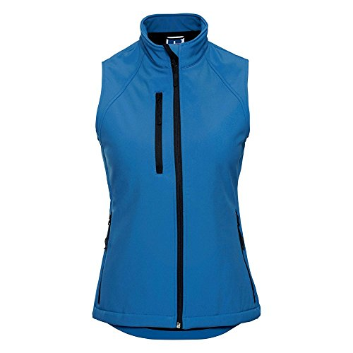 Russell dames Softshell Gilet, maat, X-Small, Azure Blauw, 1