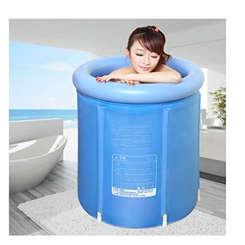 Erhöhen Sie faltende Badewanne Erwachsener aufblasbare Plastikbadewanne Verdicken Sie Badewannen-Isolierungs-Bad-Fass-Badewanne Freistehende tränkende Duschwanne-Badekurort-Wanne ( Size : 68*70cm )