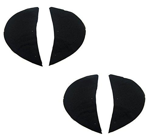 Hand® Herren Canvas gefüttert Schulter Pads schwarz, Style 002-2 Paare