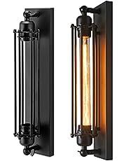 TTAototech Retro stijl metalen kooi lamp antieke industriële ijzeren wandlampen licht voor wandlampen binnen, woonkamer, slaapkamer, vintage plafondwandverlichting