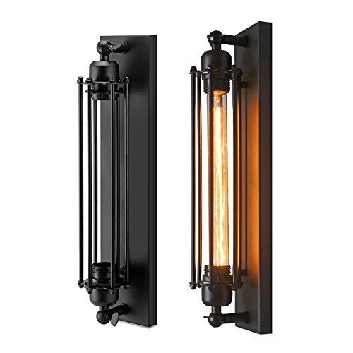 OurLeeme Vintage Wall Lamp, T300 E26 or E27 Retro Corridor Industrial Style Wall Iron Lamp (1 toma de luz)