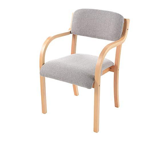 JNZZDQ Moderne eetkamerstoel van massief hout in Japanse stijl, minimalistisch, met armleuningen voor de rugleuning, geschikt voor kantoor thuis, bureaustoel Colorb