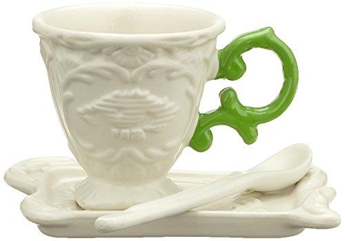SELETTI Set da Caffe' in Porcellana I-Wares con Manico - Verde