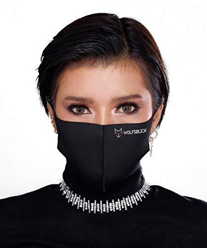 Mund und Nasenschutz, Mundschutz Maske Waschbar | Atmungsaktiver Mund und Nasenschutz | Schlicht und enganliegend
