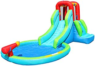 Action air Inflatable Waterslide, Bouncy House for Both Wet and Dry, Kids Waterpark with Slide for Outdoor Fun, Splash Pool & Water Gun, Extra Thick Material and Durable, Ideal for Kids (AM0452)