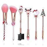 SailorMoonSailorMoon - Juego de brochas de maquillaje con bolsa de anime periférica con bolsa rosa, Navidad-6, 7.0548[set de ]