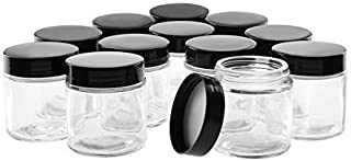 4OZ Glass Jars with Lids, Hoa Kinh Small Glass Jars, 12 Pack Round Canning Storage Jars Containers for Storing Lotions, Powders, and Ointments