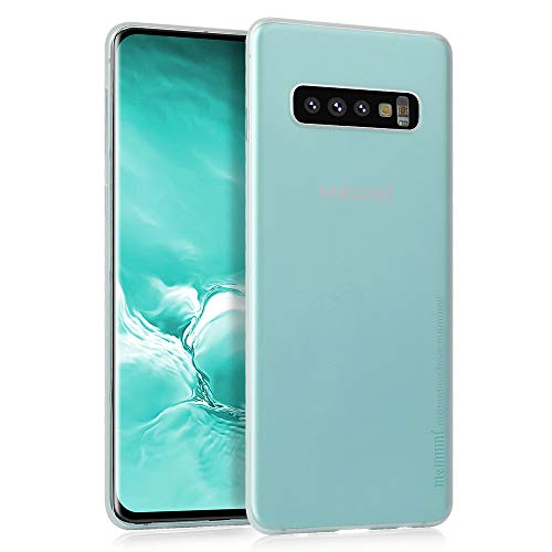 MEMUMI Compatible con Samsung Galaxy S10 Plus Funda Thin Fit 0.3 mm Anti-Huella Digital Carcasa para Samsung Galaxy S10 Plus Case...