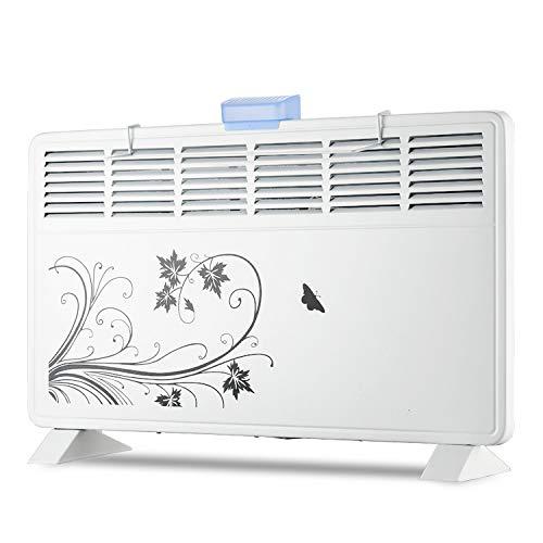 Convecteur Chauffage - Radiateur de Salle de Bain Silencieux, à économie d'énergie, pour Montage à la Maison ou au Bureau (1000w / 2000w)