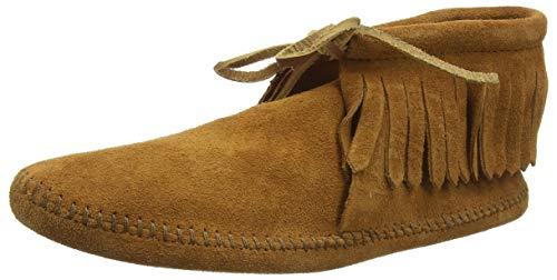 Minnetonka Men's Classic Fringe Boot, Softsole Brown, 9 M US