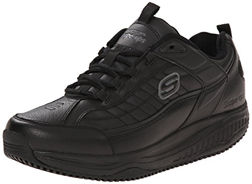 Skechers For Work Shape Ups Exeter Zapato de trabajo para hombre, negro (Negro), 43 EU