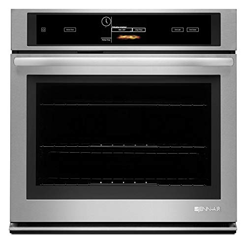 Jenn-Air JJW3430DS 30″ Single Wall Oven with V2 Vertical Dual-Fan Convection System 5 cu. ft. Capacity Soft Auto Close Door Wi-Fi Connectivity and Halogen Interior Lighting in Stainless