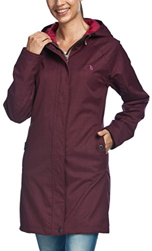 Tatonka Damen Mantel Wallace Coat, Port Red, 46